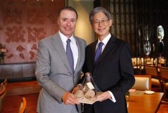 Quirino Ordaz Coppel se reúne con embajador de Japón en México