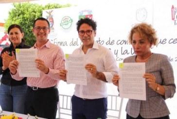 Se llevó a cabo la firma del contrato de comodato entre la SEPyC, UPES y Ayuntamiento de Concordia