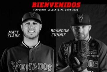 Club Venados de Mazatlán confirma el regreso del taponero Brandon Cunniff y la firma del primera base, Matt Clark