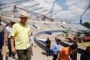 Supervisa Quirino remodelación del estadio de Béisbol de Guasave