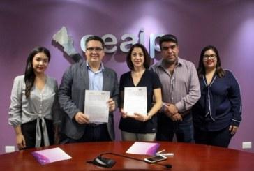 Firman convenio en materia de Transparencia