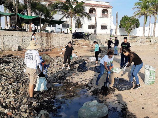 Jornada Limpiez Playa Pinitos Mazatlán 2019 1