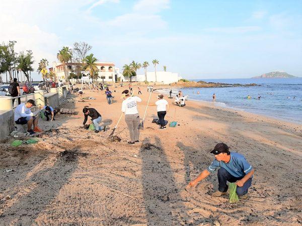 Jornada Limpiez Playa Pinitos Mazatlán 2019 3