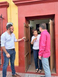Oscar Pérez Barros Sandra Ortega Visita Museo Rincón de Pedro Infante 2019 2
