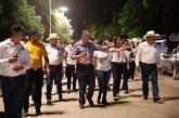 Inaugura Quirino iluminación del malecón de Sinaloa de Leyva