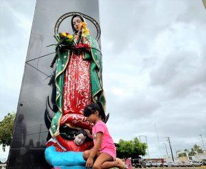 Cae la Virgen del la Puntilla con Tormenta Narda Mazatlán 2019 2