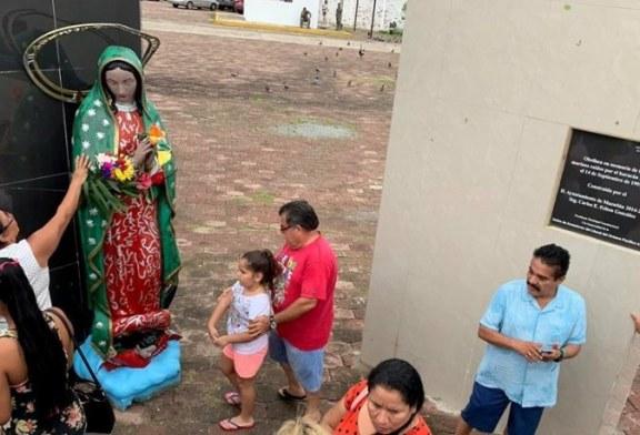 Cae la Virgen de la Puntilla ante embates huracanados de Narda