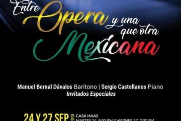 El barítono mazatleco ofrecerá arias de ópera de corte popular