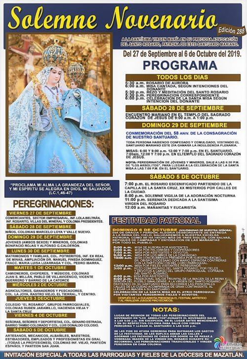 Programa Dia de la Virgen del Rosario 2019 1