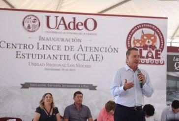 Quirino y rectora entregan infraestructura por 13.3 mdp en la UADEO Los Mochis