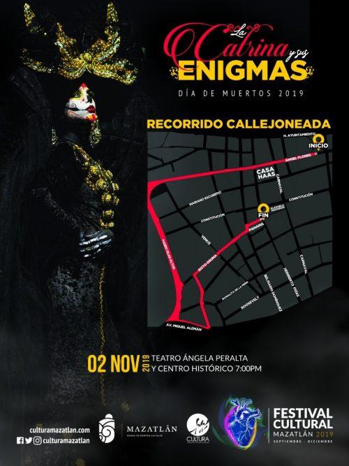 Anuncian Callejonedad de Muertos en Mazatlán 2019 6a