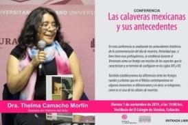 Invitan a presenciar la conferencia calaveras mexicanas y sus antecedentes