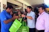 Fomenta SEDESU el uso de las bolsas reutilizables en el municipio de Navolato