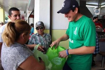 Promueve SEDESU las bolsas reutilizables