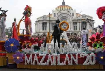 Comitiva del Carnaval Internacional de Mazatlán conquista el Desfile de Día de Muertos de la Ciudad de México