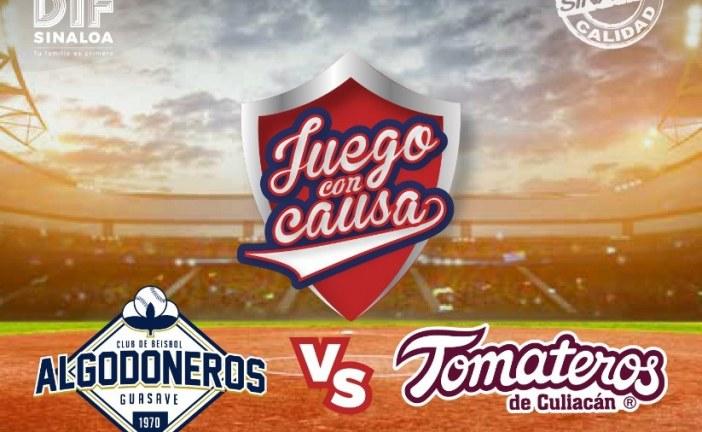 Próximo domingo el Gran Juego con Causa entre Tomateros y Algodoneros.