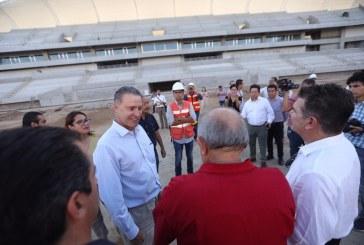Supervisa construcción de estadio de futbol en Mazatlán el Gobernador Quirino Ordaz Coppel
