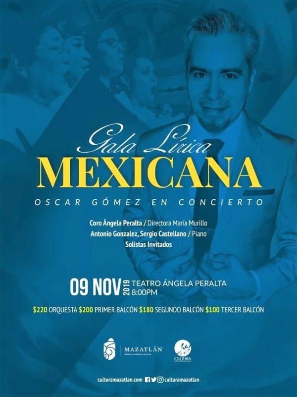 Óscar Gómez en Concierto Gala Lírica Méxicana TAP 2019 Programa