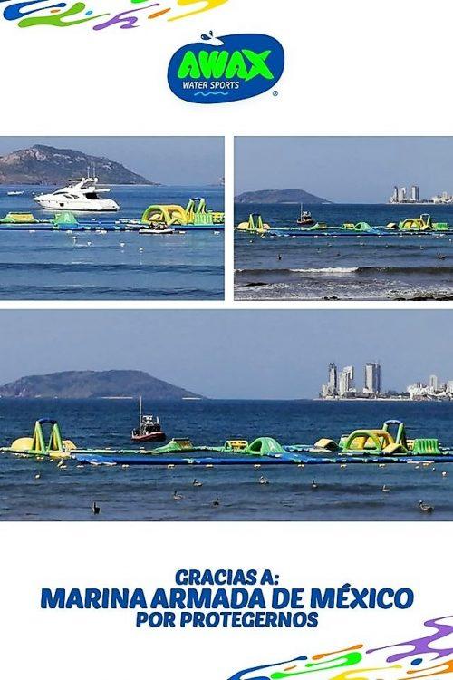 Awax Parque Acuático Inflable Agradece a Armada de México Apoyo ante Agresión Noviembre de 2019 4