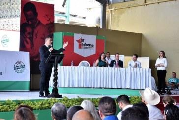 Rinde Felipe Garzón su Primer Informe de Gobierno.