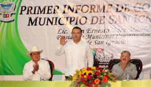 Iván Báez Martínez rinde su primer informe de gobierno 1