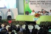 Iván Báez Martínez rinde su primer informe de gobierno