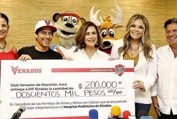 Recibe DIF Sinaloa donativo de Club Venados