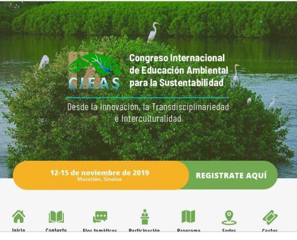 XI Congreso de Edicación Ambiental para la Sustetabilidad Sede Mazatlán 2019 Portal