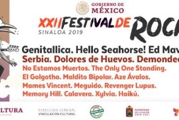 Inicia este jueves, el XXII Festival de Rock Sinaloa 2019 en Mazatlán