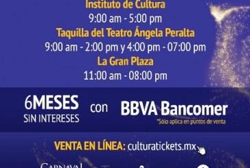 Venta de boletos para Carnaval 2020