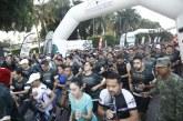 """Miles de personas acuden a la carrera deportiva """"La gran fuerza de México"""""""