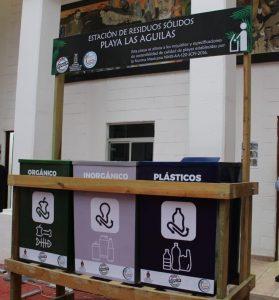 Contenedor Playa las Aguilas Basura Sedesu 2020