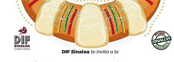 Mega Rosca de Reyes Sinaloa DIF 2020 Invitación 1