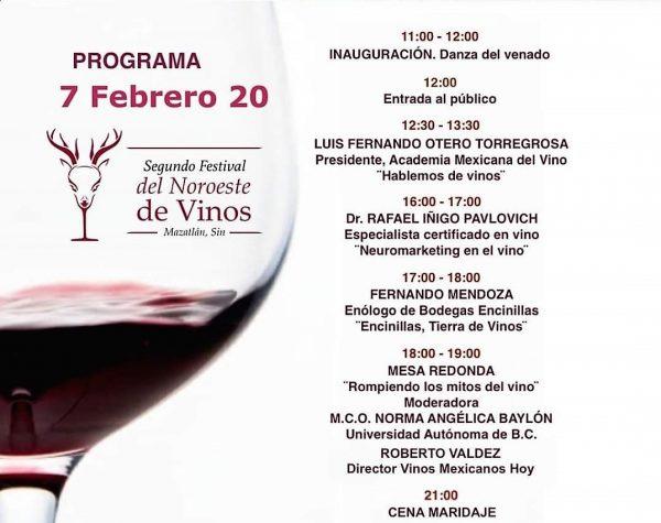 Segundo Festival del Noroeste del Vino Mazatlán 2020 Programa c