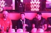 La banda MS Nicky Jam y Becki G en el Somos Musik Fest este 18 de abril.