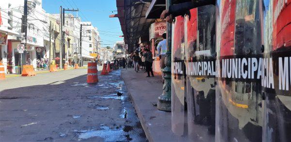 Desalojan Vendedores Ambulantes del Mercado Pino Suárez de Mazatlán Febrero 2020 (6)