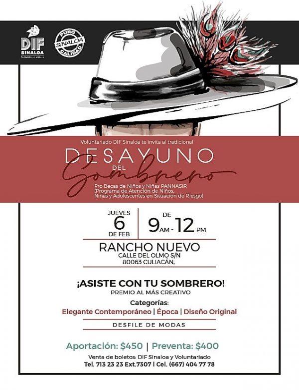 Invitación Desayuno del Sombrero 2020 Rosy Fuentes de Ordaz 2