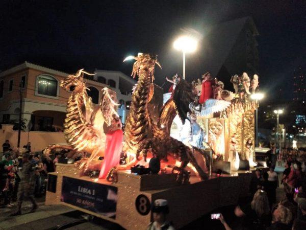 Primer Desfile Domingo de Carnaval de Mazatlán 2020 Carro Alegórico Dragón