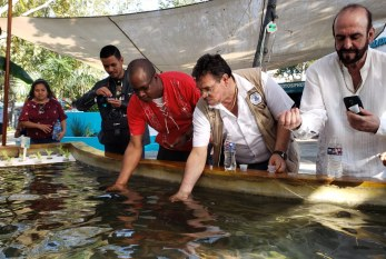 Alcalde de Ceiba Honduras visita Acuario Mazatlàn.