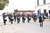 Con desfile, celebran Día de la Bandera en Elota