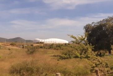 Avance del 30% estadio de futbol en Mazatlán.