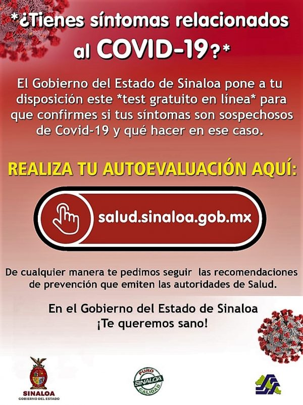 Auto Tes para Detectar Coronavirus Salud Sinaloa 2020 a