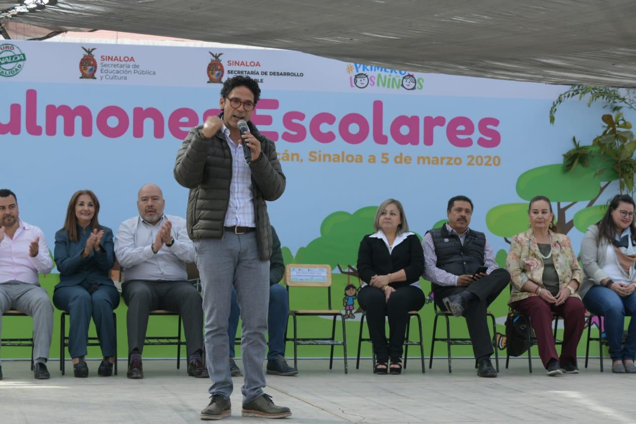 """Planteles de Sinaloa respirarán con """"Pulmones Escolares"""