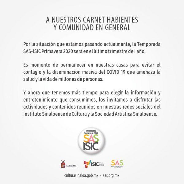 AvIso ISICA Primaver Cambio 2020