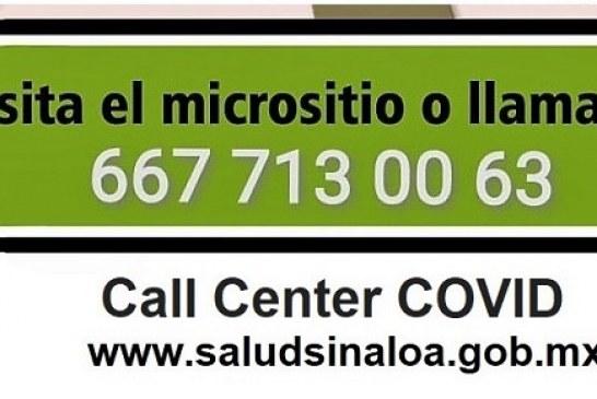 En Sinaloa Call Center COVID se reforzará con más médicos