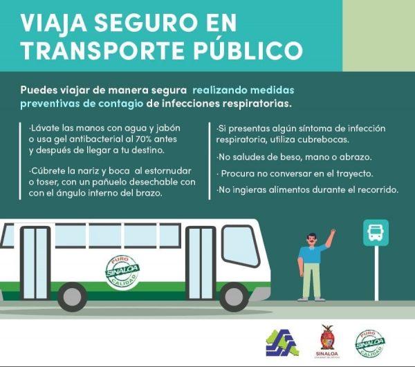 Coepris Sanitiza el Transporte Público de Sinaloa ante Covid - 19 2020 b