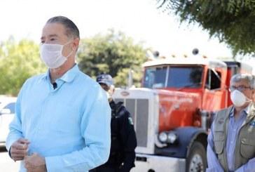 El Gobernador Quirino Ordaz Coppel supervisa puntos de revisión sanitaria (Covid-19) en carreteras de Sinaloa