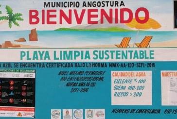 Obtiene Costa Azul, Angostura certificación de Playa Limpia