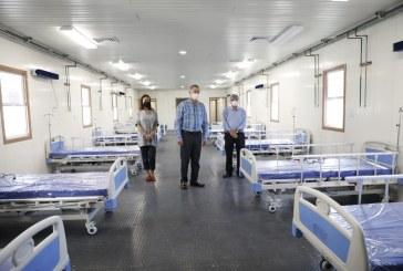 Quirino supervisa módulo hospitalario para pacientes COVID en el HGC.