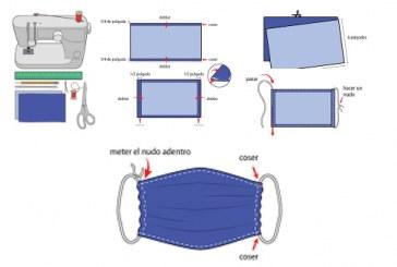 Aprende a fabricar tu cubrebocas.